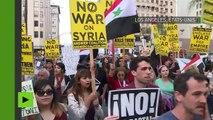 «Bas les pattes sur la Syrie» : une série de manifestations gagne plusieurs villes américaines