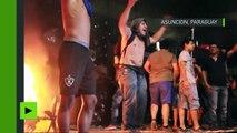Paraguay : scènes de chaos et de heurts devant la Maison du Congrès incendié par des manifestants