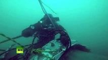 Images sous-marines des débris de Tu-154 qui s'est écrasé en mer Noire