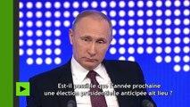 «Non» à la vodka et «oui» au kvas : les moments insolites du marathon de questions à Poutine