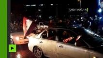 Syrie : les habitants réunis dans les rues d'Alep pour fêter la libération de la ville