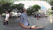 Equilibre instable à 360° : un casse-cou escalade un gratte-ciel en Chine