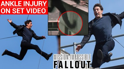 Tom Cruise Ankle Injury During 'Mission: Impossible - Fallout' Stunt | Tom Cruise MI 6 Stunt