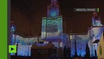 Cercle de lumière : les façades historiques de Moscou se transforment en toile