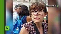 Echange tendu entre une journaliste de BFM et des manifestants pendant un direct de RT France