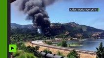 Etats-Unis : incendie après le déraillement d'un train transportant du pétrole dans l'Oregon