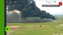 Infernal incendie de pneus en banlieue de Madrid, 9 000 habitants évacués