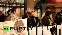 Des Espagnols protestent contre l'arrestation de deux marionnettistes pour apologie du terrorisme