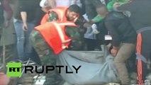 Syrie : les services de secours déblayent le site d'explosions multiples à Homs