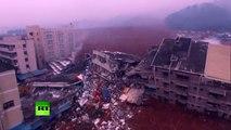 Chine : 91 personnes portées disparues après un glissement de terrain