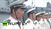 Une parade d'adieu des navires de la Flotte russe du Pacifique et des Forces navales chinoises