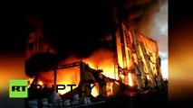 Russie : énorme incendie dans une usine de bois de Saint-Pétersbourg