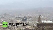 Yémen : le quartier général des Houthis à Taiz bombardé par la coalition