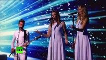 La Russie et l'Astralie lors de l'Eurovision