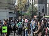Chili : cocktail Molotov contre canons à eau dans les protestations de Santiago