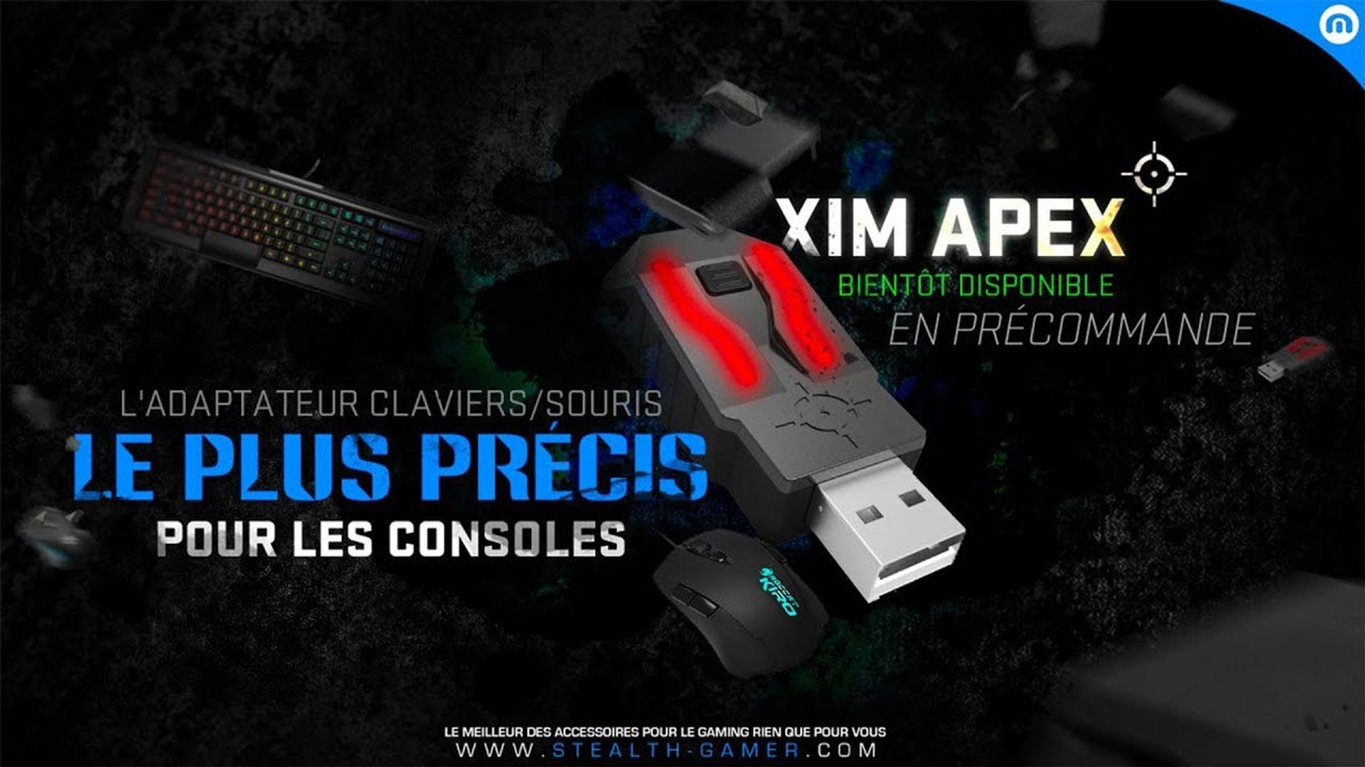 XIM APEX - Configuration filaire Manager (en jeu/PC/MAC)   No-Pad fr