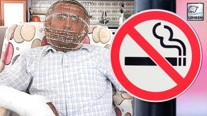 A Man Locks His Head In A Cage To Quit Smoking!