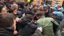 شاهد: مواجهات عنيفة بين الشرطة ومتظاهرين ضد اليمين الإيطالي