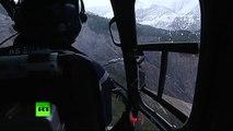 Crash de l'Airbus A320 : des images des débris de l'avion tournés depuis un hélicoptère