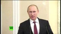 Le discours de Vladimir Poutine au terme du sommet de Minsk