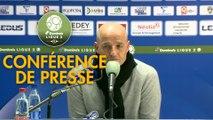Conférence de presse FC Sochaux-Montbéliard - Havre AC (3-2) : Peter ZEIDLER (FCSM) - Oswald TANCHOT (HAC) - 2017/2018