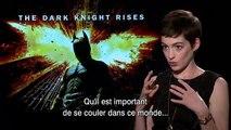 Batman : The Dark Knight Rises - Interview Anne Hathaway - Christian Bale / Christopher Nolan