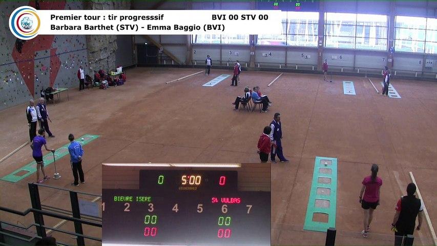 Premier tour, tir progressif, Club Elite Féminin, J6 play-off, Bièvre Isère contre Saint-Vulbas, février 2018
