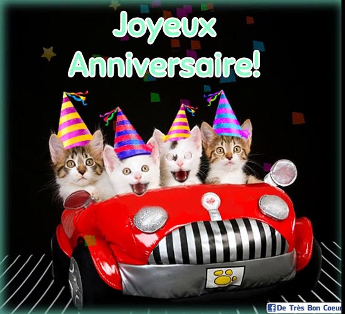carte anniversaire chat qui chante Chatons Qui Chantent Joyeux Anniversaire   Vidéo Dailymotion
