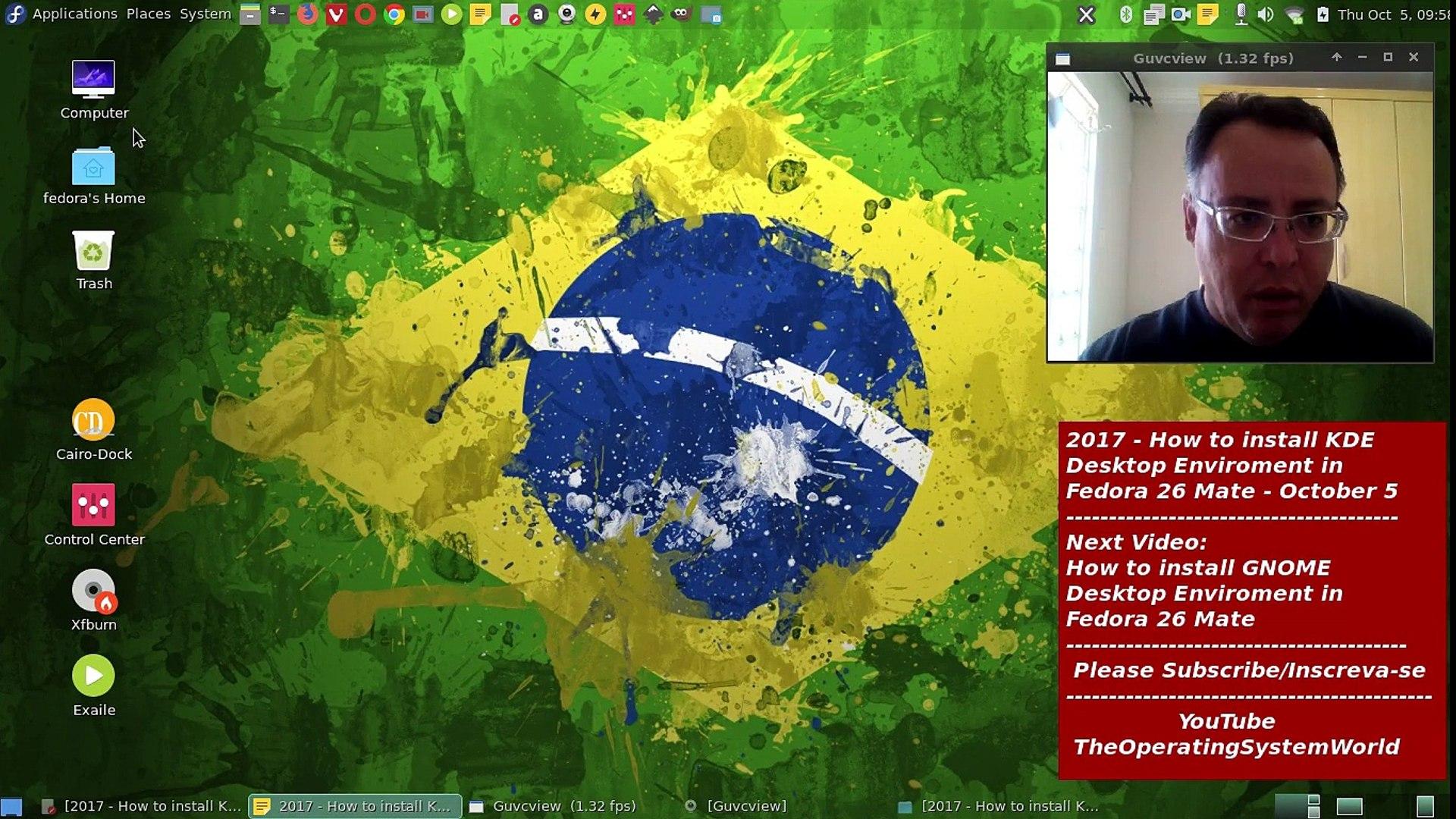 2017 - How to install KDE Desktop Enviroment on Fedora 26 Mate - October 5