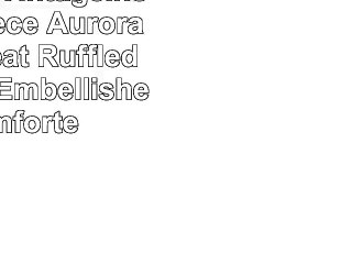 DriftAway Vintageinspired 3 Piece Aurora Pinch Pleat Ruffled Designer Embellished