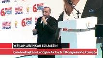 Cumhurbaşkanı Erdoğan Ak Parti İl Kongresinde konuştu