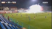 NK Široki Brijeg - FK Sarajevo / Bakljada i dimna zavjesa prekinula meč