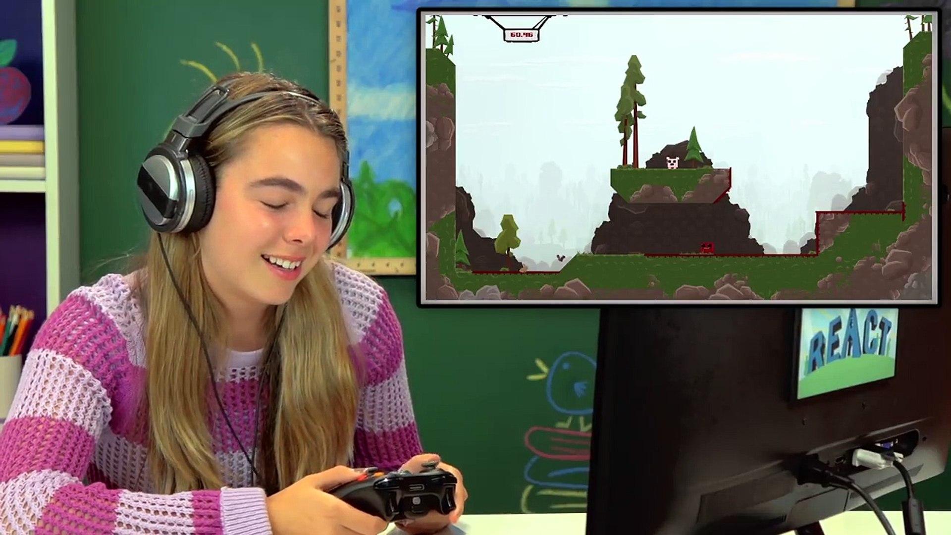 KIDS PLAY SUPER MEAT BOY (Kids React: Gaming)