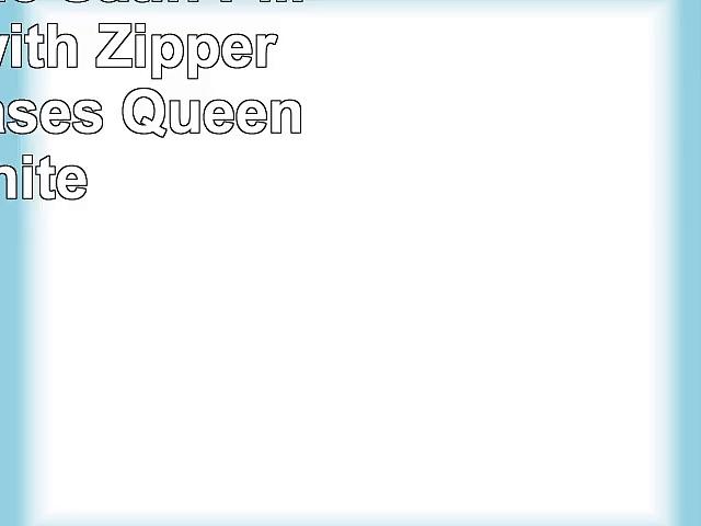 DreamHome Satin Pillow Case with Zipper 2 Pillow Cases Queen White