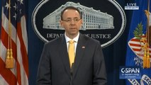 Deputy Attorney General Rod Rosenstein gives statement on Robert Mueller indictment of 13 Russian nationals