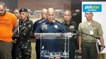PNP Chief Bato Dela Rosa presents suspected ISIS member arrested in Manila on February 18
