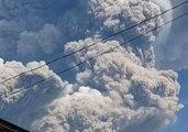 Mount Sinabung Erupts, Spews Massive Columns of Ash Into Sky
