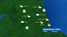 Tyne and Wear Evening Weather 22/02/18