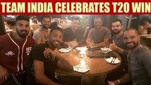 India vs South Africa 1st T20I : Virat Kohli & Co enjoy dinner after winning   Oneindia News