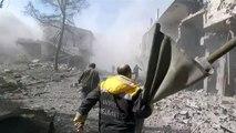 Al menos 44 civiles mueren en bombardeos sirios en Guta Oriental