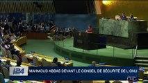 Mahmoud Abbas devant le conseil de sécurité de l'ONU