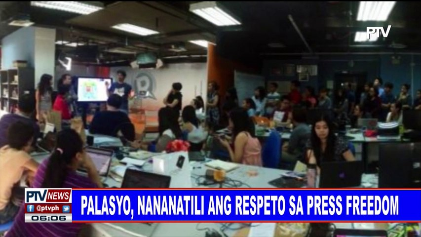 Palasyo, nananatili ang respeto sa press freedom