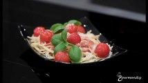 Recette : Spaghettis aux tomates et basilic