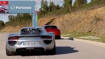 Porsche 918 Spyder & Panamera Turbo S E-Hybrid Sport Turismo in Carmine Red Hybrid Trackdays