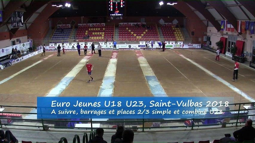 Barrages simple et combiné, Euro Jeunes, Saint-Vulbas 2018