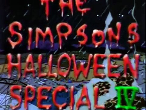 The Simpsons Treehouse of Horror IV Opening