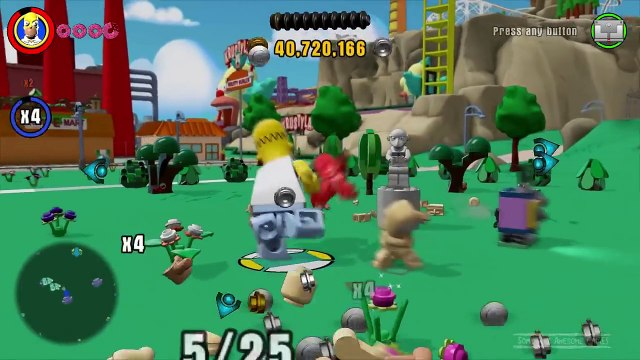 Lego Dimensions: The Simpsons Open World,  Homer Simpson, Homers Car and Tau