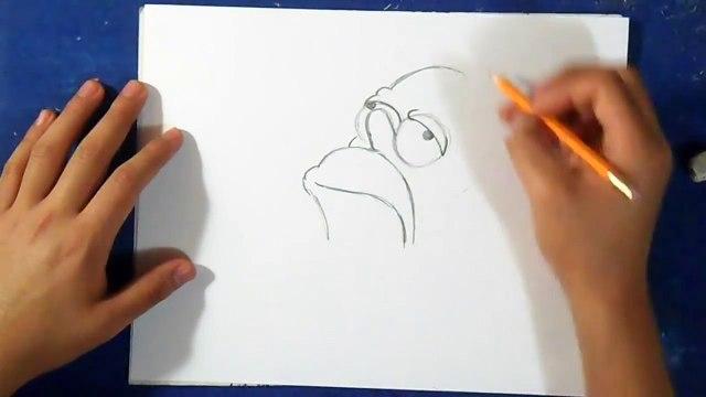 Como desenhar o Homer Simpson - Os Simpsons