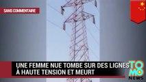 Une femme nue tombe sur des lignes à haute tension et meurt électrocutée