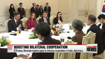 Pres. Moon holds summit meeting with Slovenian counterpart, invites delegates of OAR to Blue House
